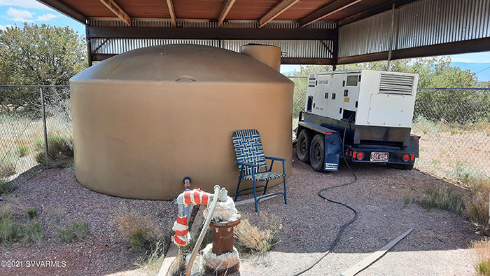 Deep Well, Large Water Tank & Commercial Generator